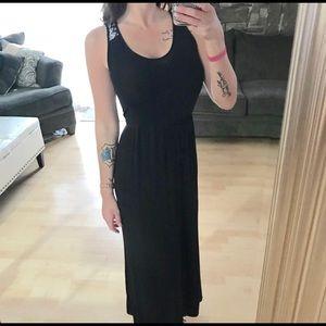 Finn & Clover Black maxi dress with open back